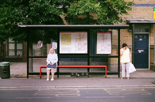 """Photo by Richard Hooker the series """"By the Bus Stop"""" blog.phmuseum.com"""