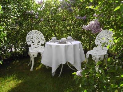 traditional Swedish lilac arbor