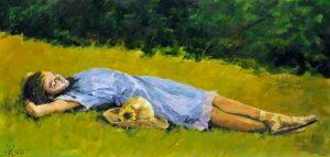 Summer dreams, acrylic painting by Aldo Luongo