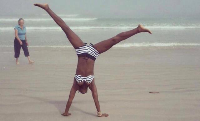 Wiyaala shows her bikini body